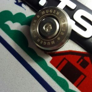 mugen number plate bolts