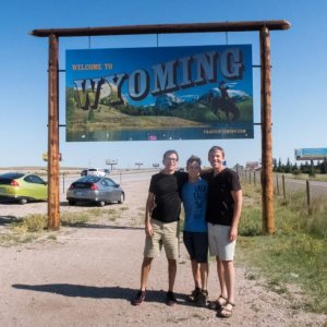 Entering Wyoming for the Eclipse, August 2017